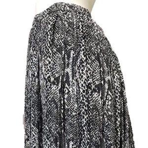 Cathy Daniels | Black | White Snake Print Skirt